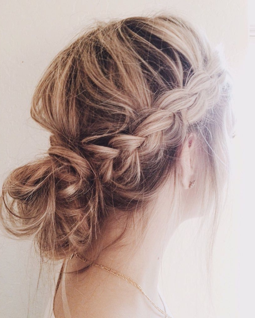 Messy Buns, Braided Messy Pertaining To Widely Used Messy Bun Braided Hairstyles (View 3 of 15)