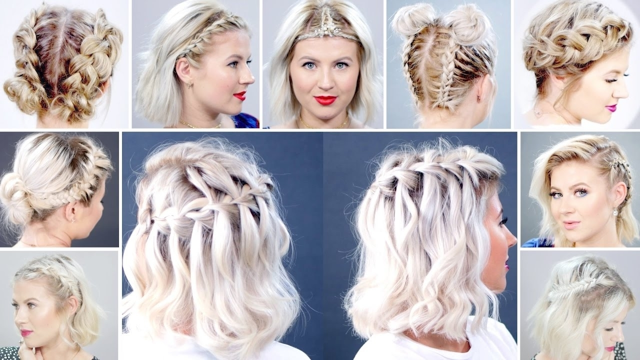 Milabu – Youtube Within Most Up To Date Braided Hairstyles For Short Hair (View 3 of 15)