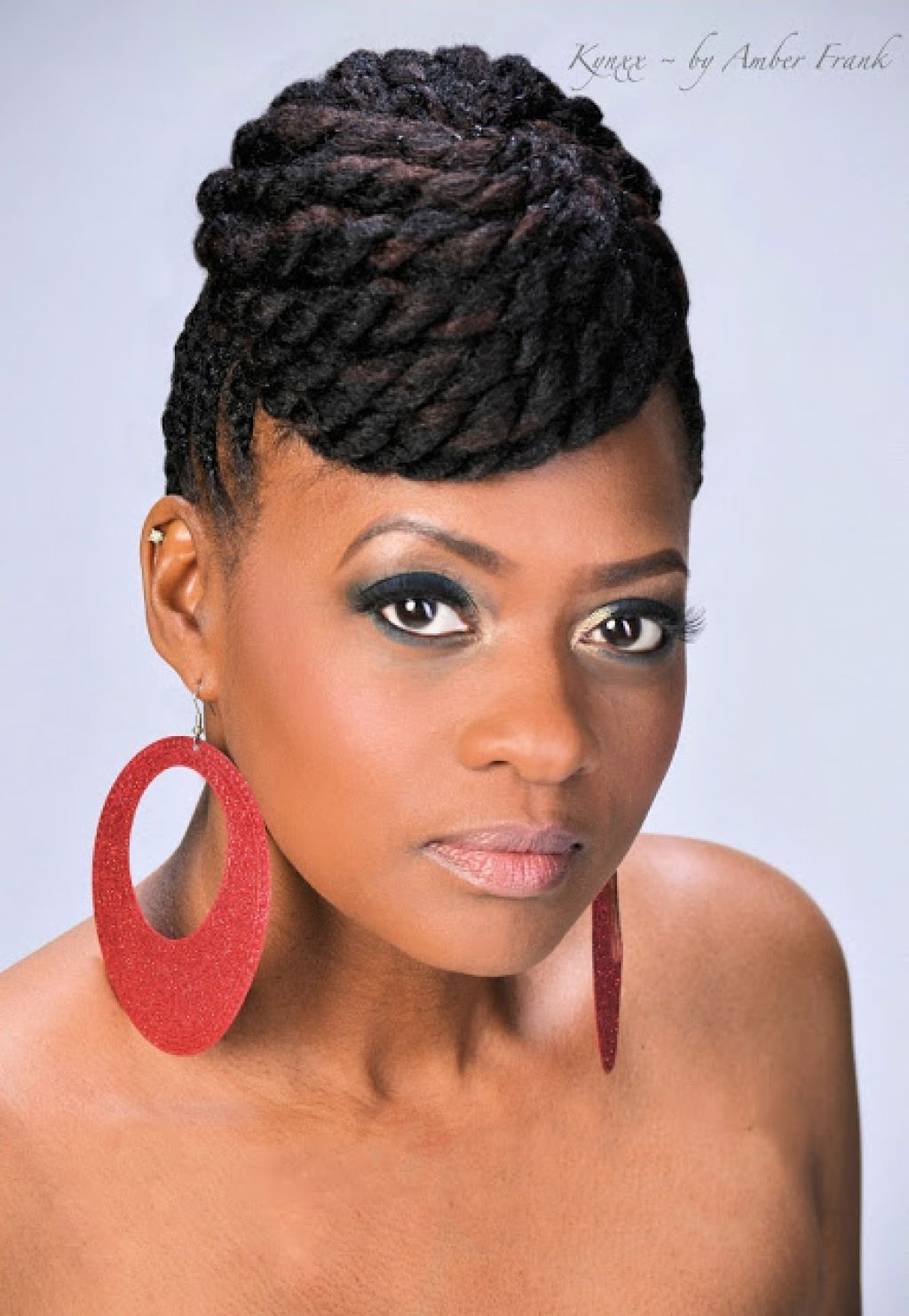 Photo Gallery Of Black Updo Braided Hairstyles Viewing 4 Of 15 Photos
