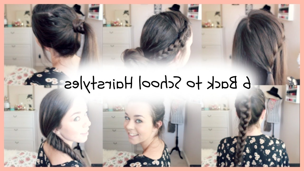 Most Current Braided Running Hairstyles Throughout 6 Back To School Quick & Easy Braided Hairstyles – Youtube (View 9 of 15)