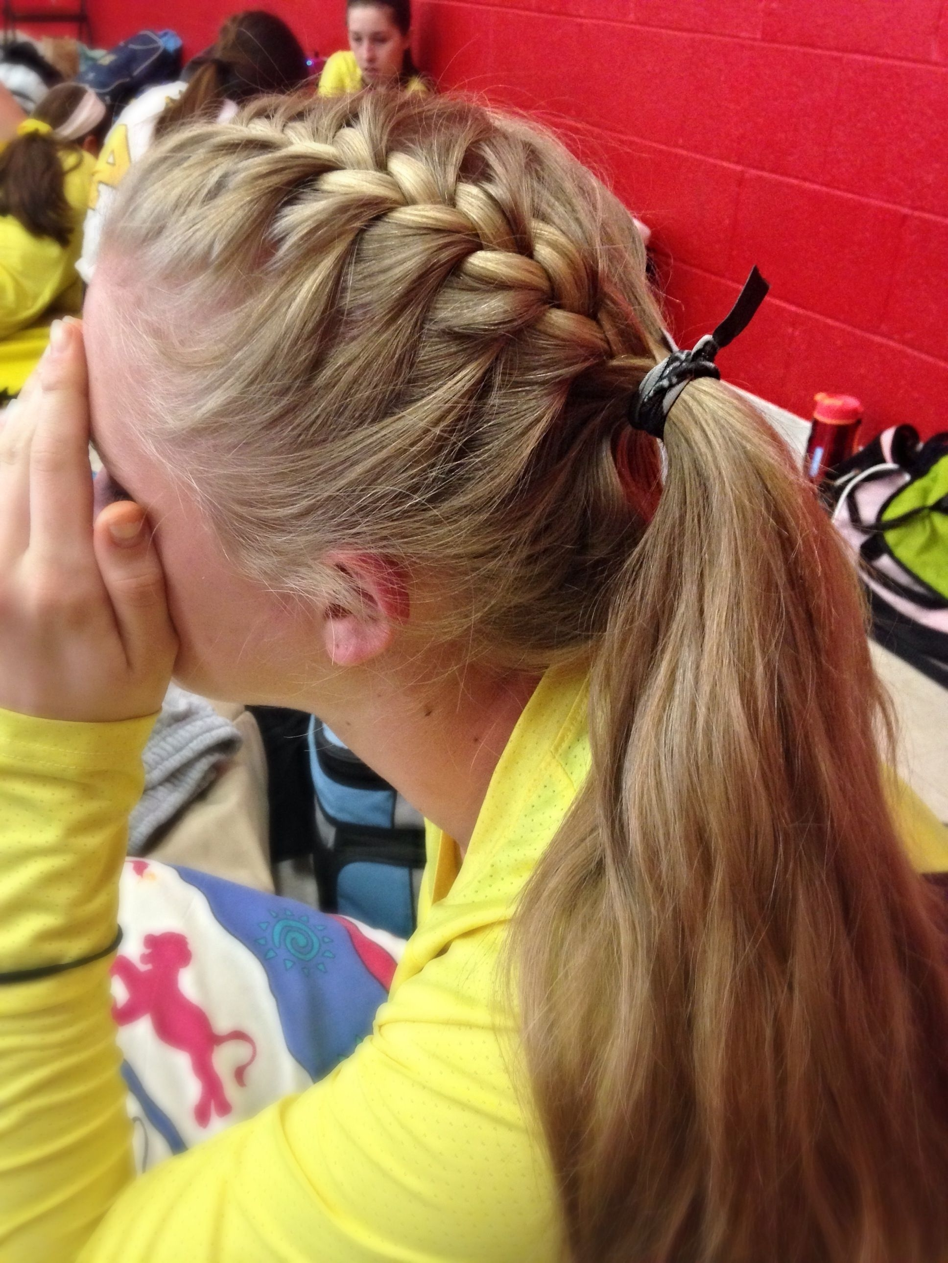 Most Current Braided Running Hairstyles With Regard To Volleyball Hair (View 6 of 15)