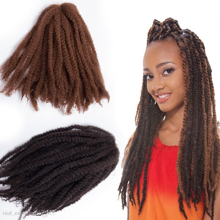 Most Current Kinky Braid Hairstyles Intended For Afro Braiding Hair Puffs Kinky Curly Bulk Hair Extensions 45Cm, (View 12 of 15)