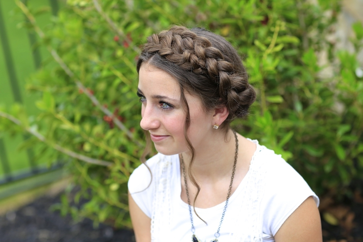 Most Current Milkmaid Braided Hairstyles With Milkmaid Braid (View 8 of 15)