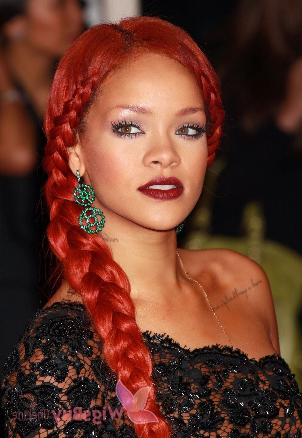 Most Current Rihanna Braided Hairstyles Within Rihanna Long Braided Hairstyles (View 10 of 15)