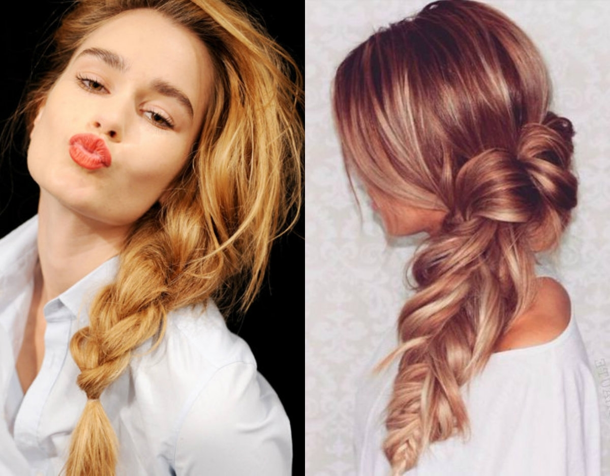Most Current Side Braid Hairstyles For Long Hair Intended For Lovely & Timeless Messy Braids Hairstyles  (View 7 of 15)
