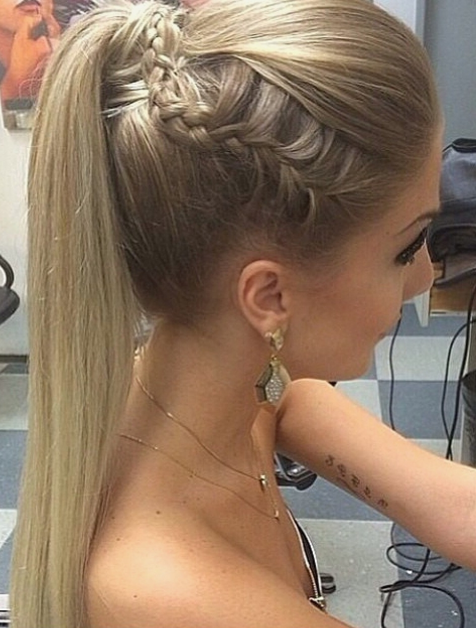 Most Current Side Ponytail Braided Hairstyles In Braid Hairstyles : Side Braid Ponytail Hairstyles New Hairstyle And (View 10 of 15)