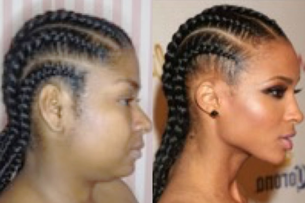 Most Current Straight Back Braided Hairstyles With Ciara Inspired Straight Back Braids (View 12 of 15)