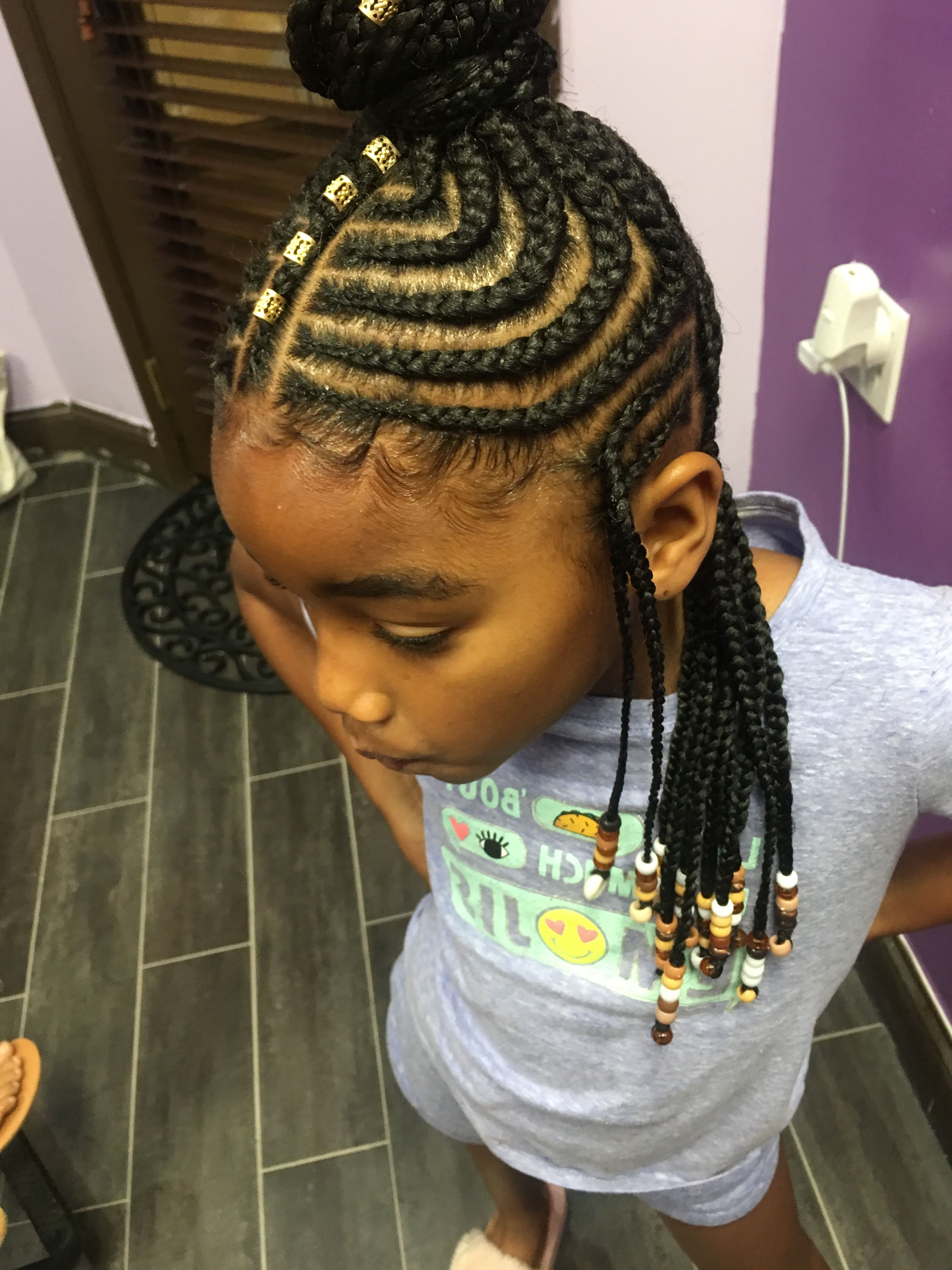Most Popular Braid Hairstyles For Little Girl Inside She Used Flat Twists To Create Fabulous Summer Curls On Short (View 10 of 15)