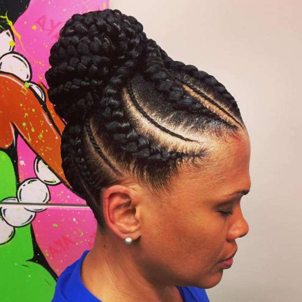 Most Popular Braided Hairstyles Up In One With Regard To 20 Best African American Braided Hairstyles For Women 2017  (View 9 of 15)