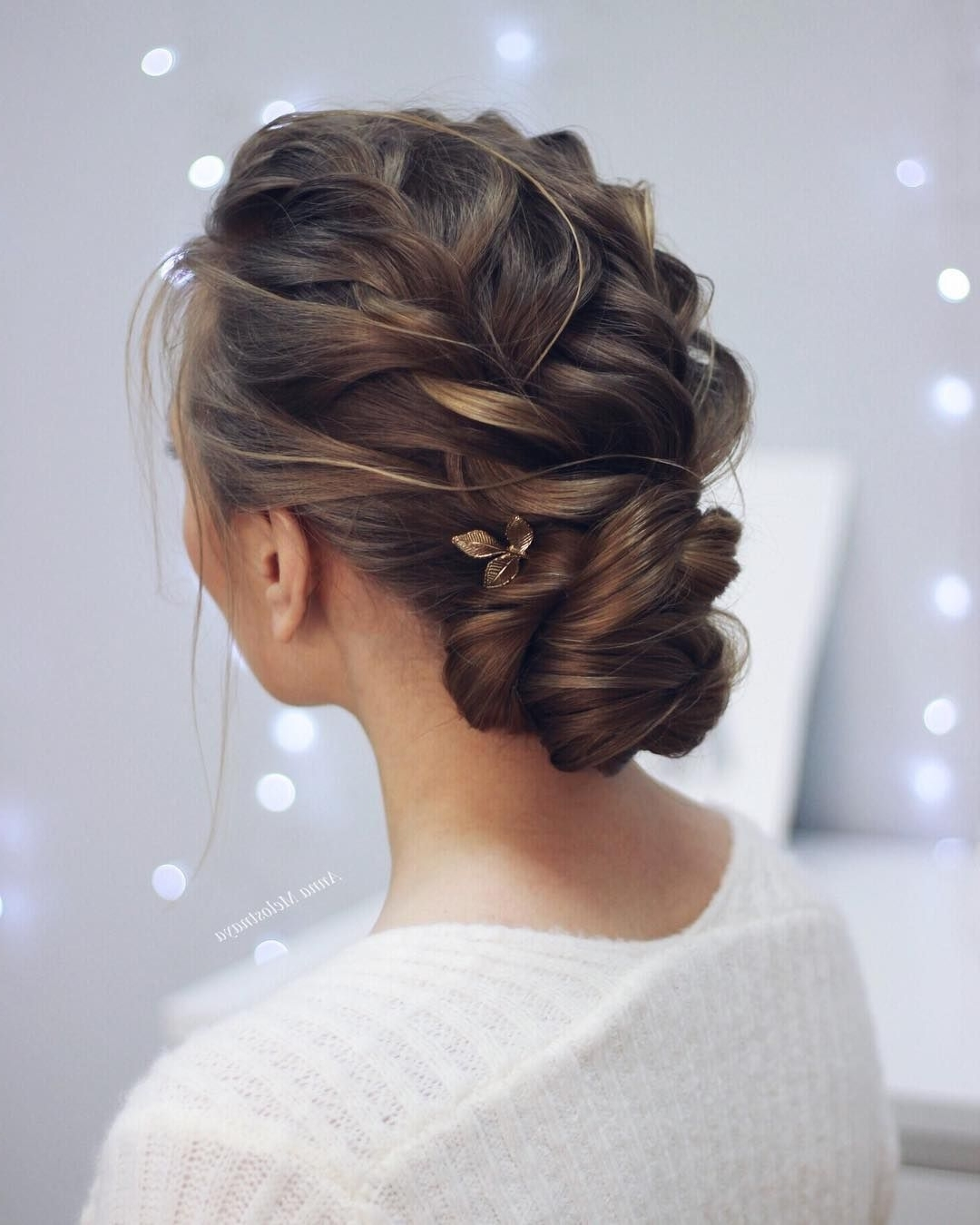 Photo Gallery of Braided Updo Hairstyles For Weddings (Viewing 14 of ...