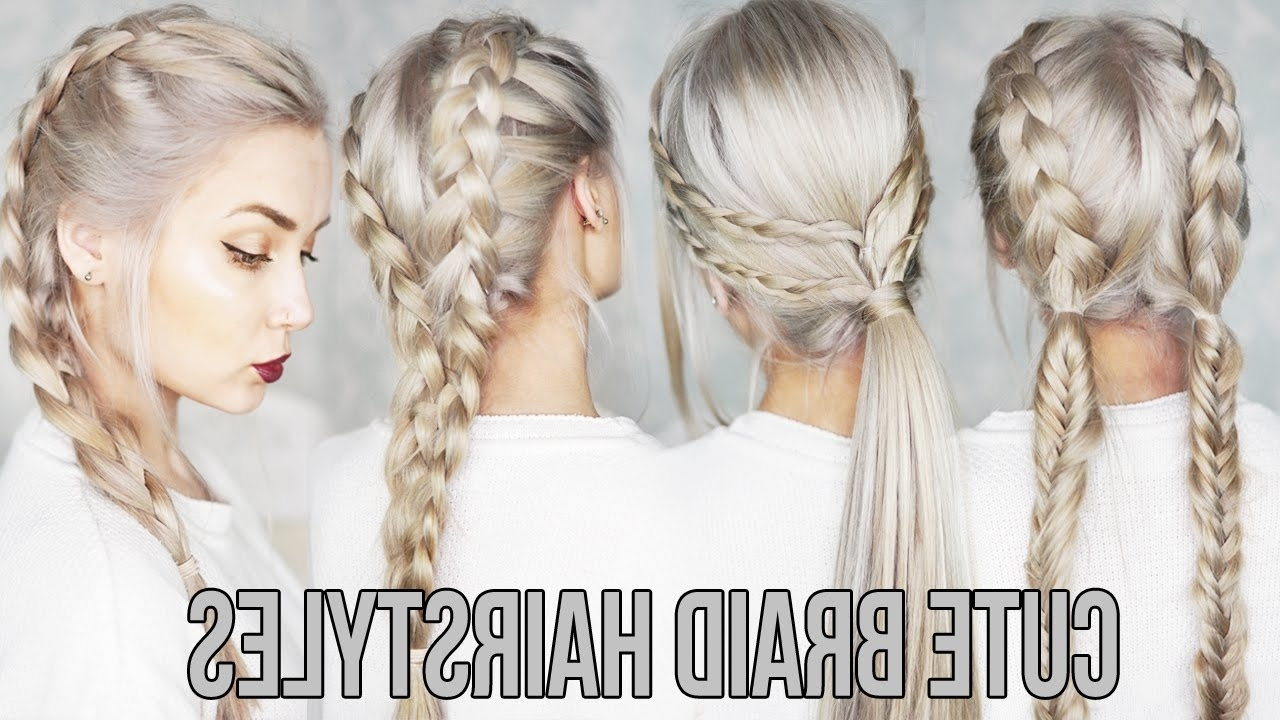 Most Popular Easy Braided Hairstyles In 3 Cute & Easy Braid Hairstyles – Youtube (View 9 of 15)