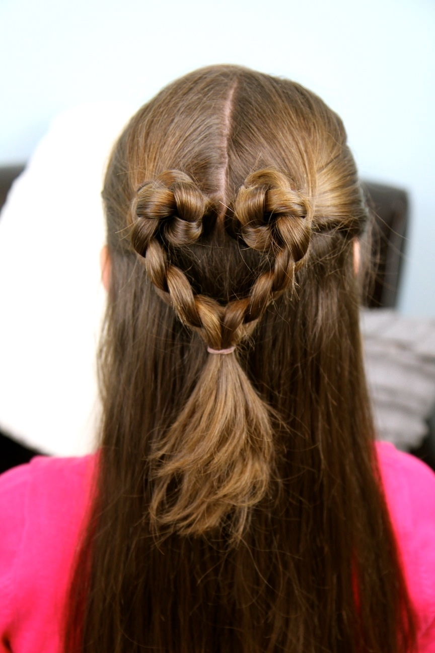 Most Popular Heart Braided Hairstyles With Twist Braided Heart (View 3 of 15)