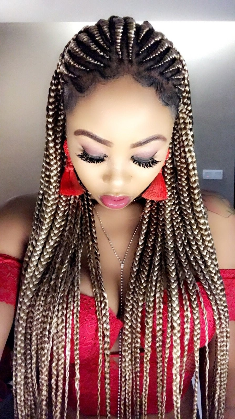 Most Popular Red Braided Hairstyles In Black Braids Hairstyles 2018 Including Charming Hair Color (View 11 of 15)