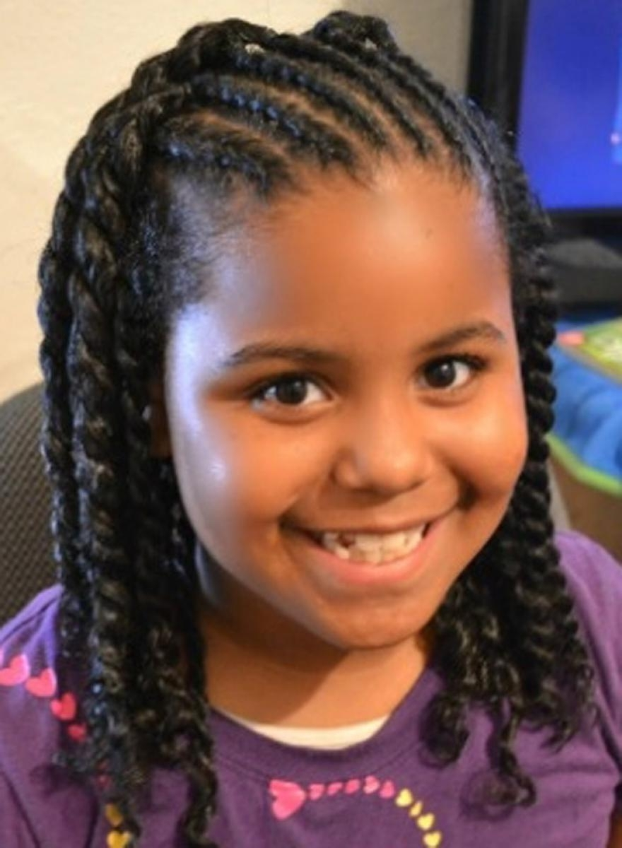 Most Recent Braided Hairstyles For Girls Pertaining To Braided Hairstyles A For Little Black Girls 2018 – Girls Hairstyle (View 9 of 15)