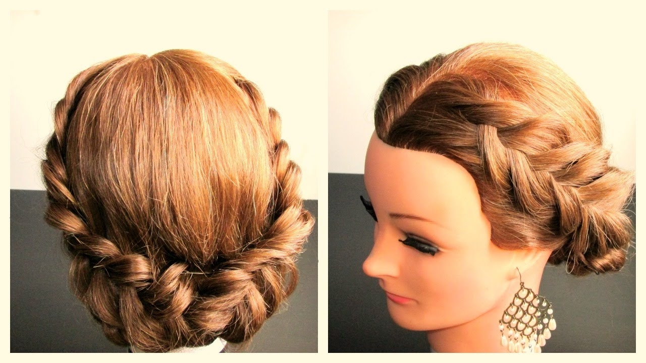 Most Recent Braided Hairstyles For Medium Hair With Regard To Holiday Braided Hairstyle, Hairstyle Ideas For Long, Medium Hair (View 1 of 15)