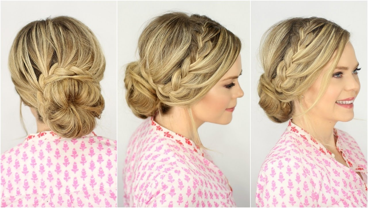 Most Recent Braided Hairstyles For Prom With Regard To French Lace Braid Updo (View 4 of 15)