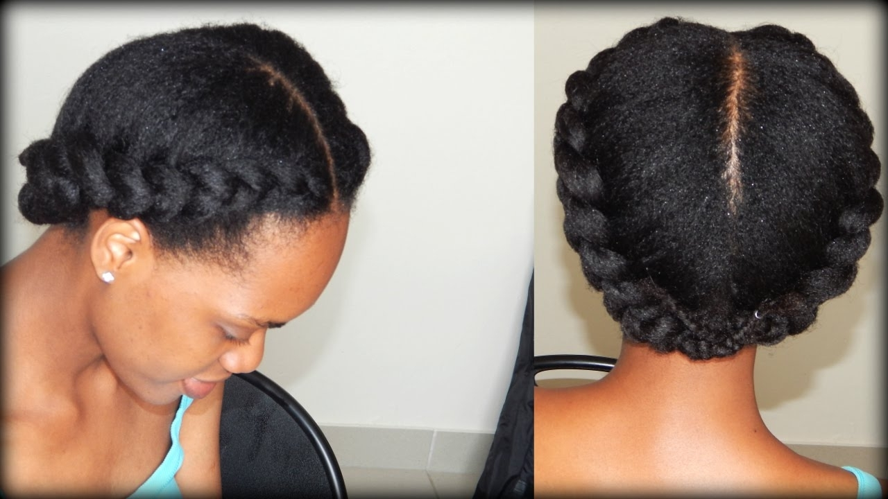 Most Recent Braided Hairstyles With Real Hair Regarding Natural Hair (View 8 of 15)