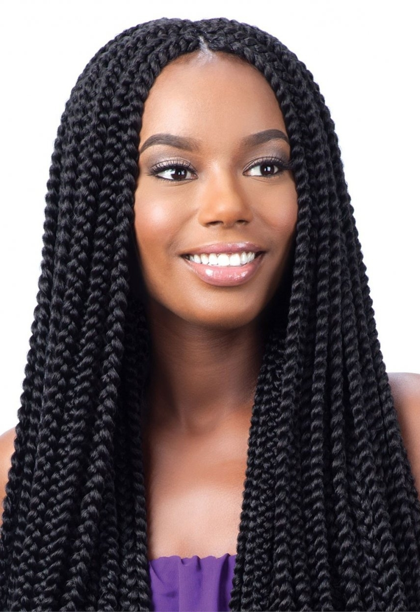 Most Recent Braided Rasta Hairstyles With Model Model Glance Crochet Braid Long Large Box Braid Inside Large (View 7 of 15)