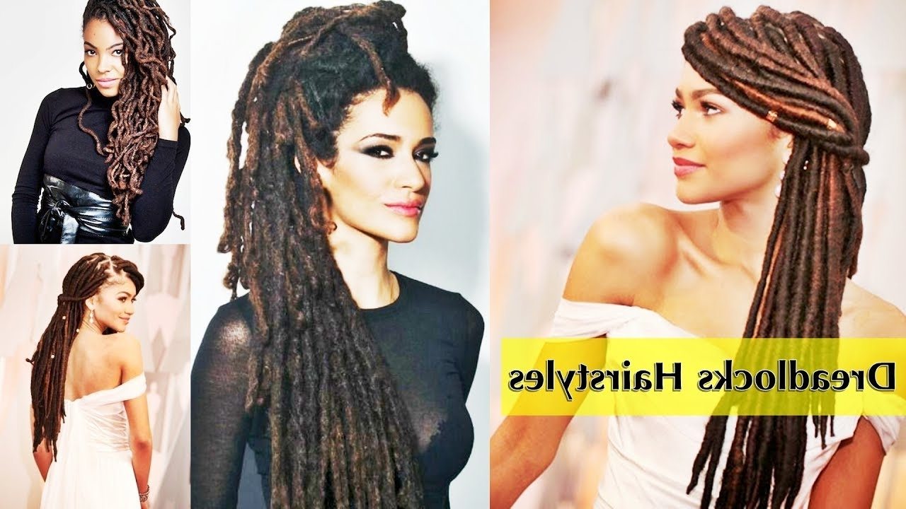 Most Recent Dreadlocks Hairstyles For Women In Latest Dreadlocks Hairstyles For Afro & American Womens 2017 – Youtube (View 11 of 15)