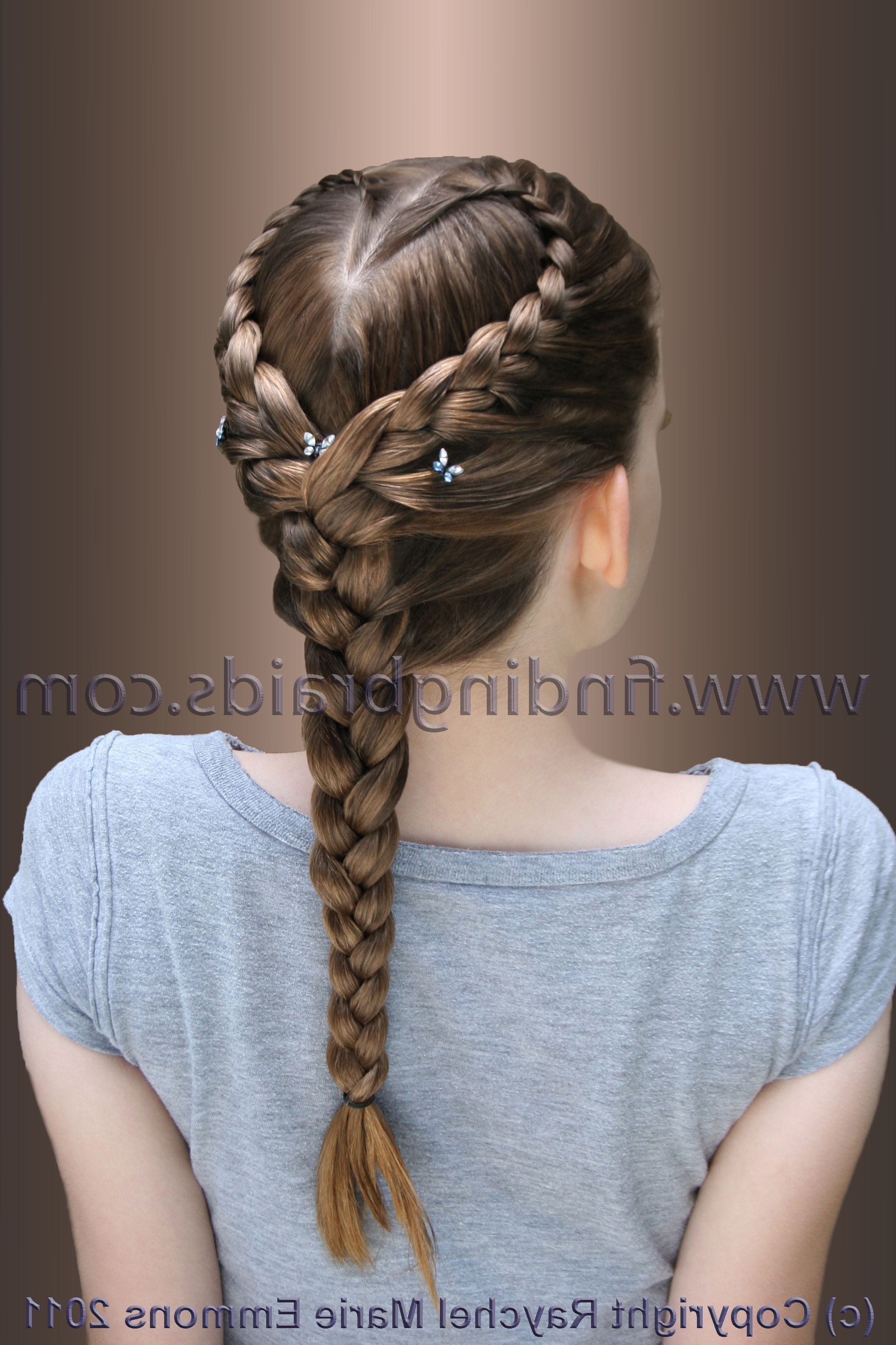 Most Recent Heart Braided Hairstyles Intended For Heart Braid (View 9 of 15)