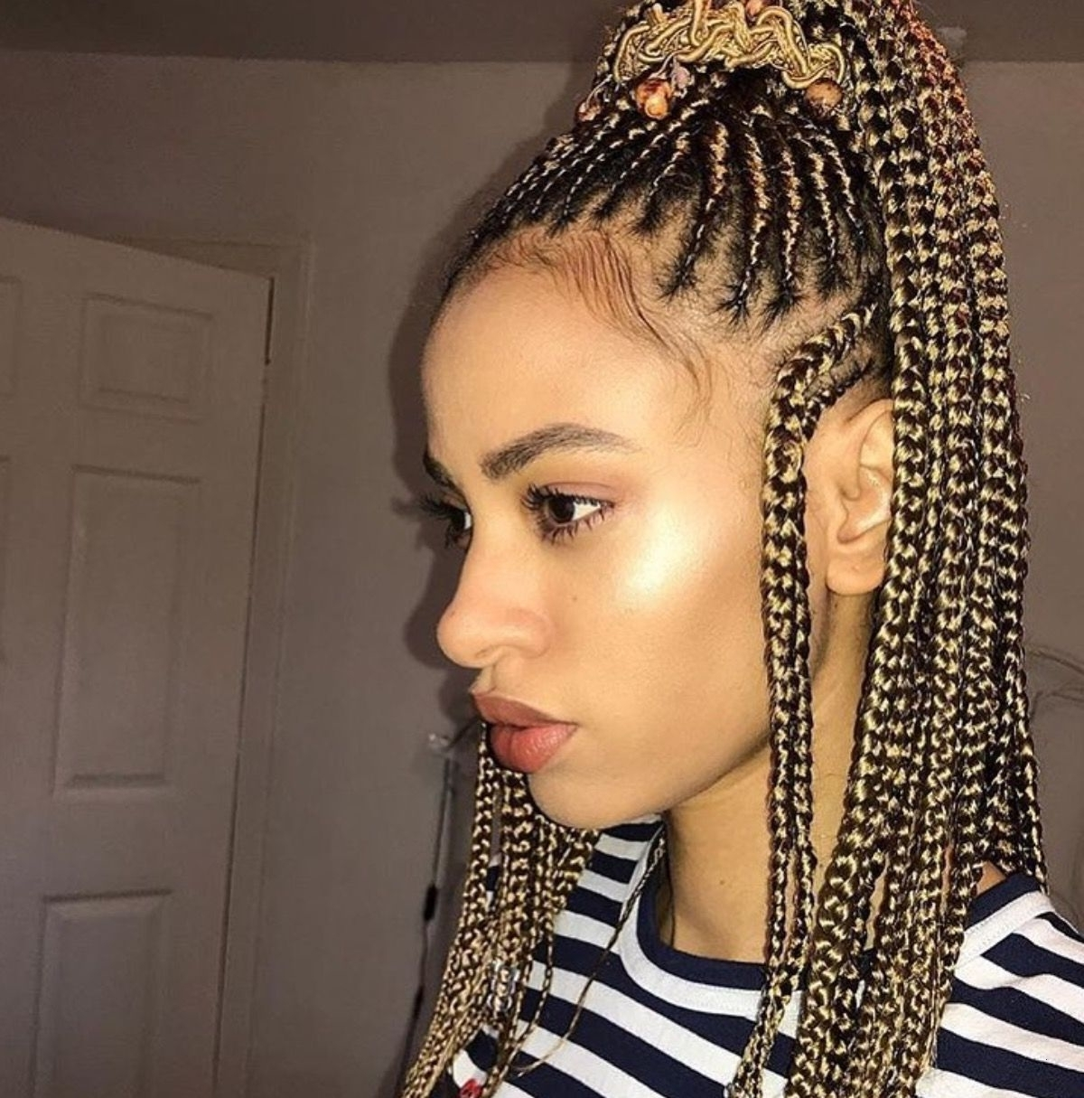 Most Recent Queen Braided Hairstyles Within Braided Hairstyle New Follow The Queen For More Poppin Pins (View 2 of 15)