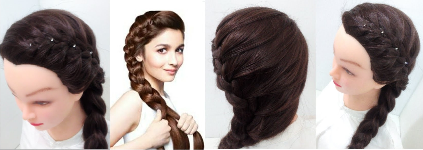 Featured Photo of Braided Hairstyles On Saree