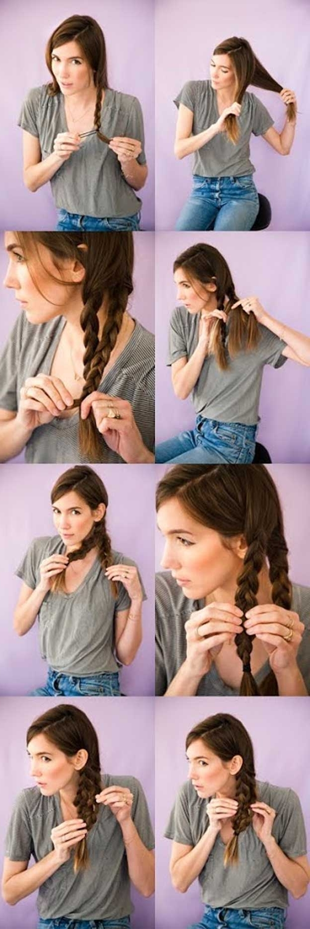 Most Recently Released Quick Braided Hairstyles For Medium Length Hair Intended For 35 Best 5 Minute Hairstyles – The Goddess (View 11 of 15)