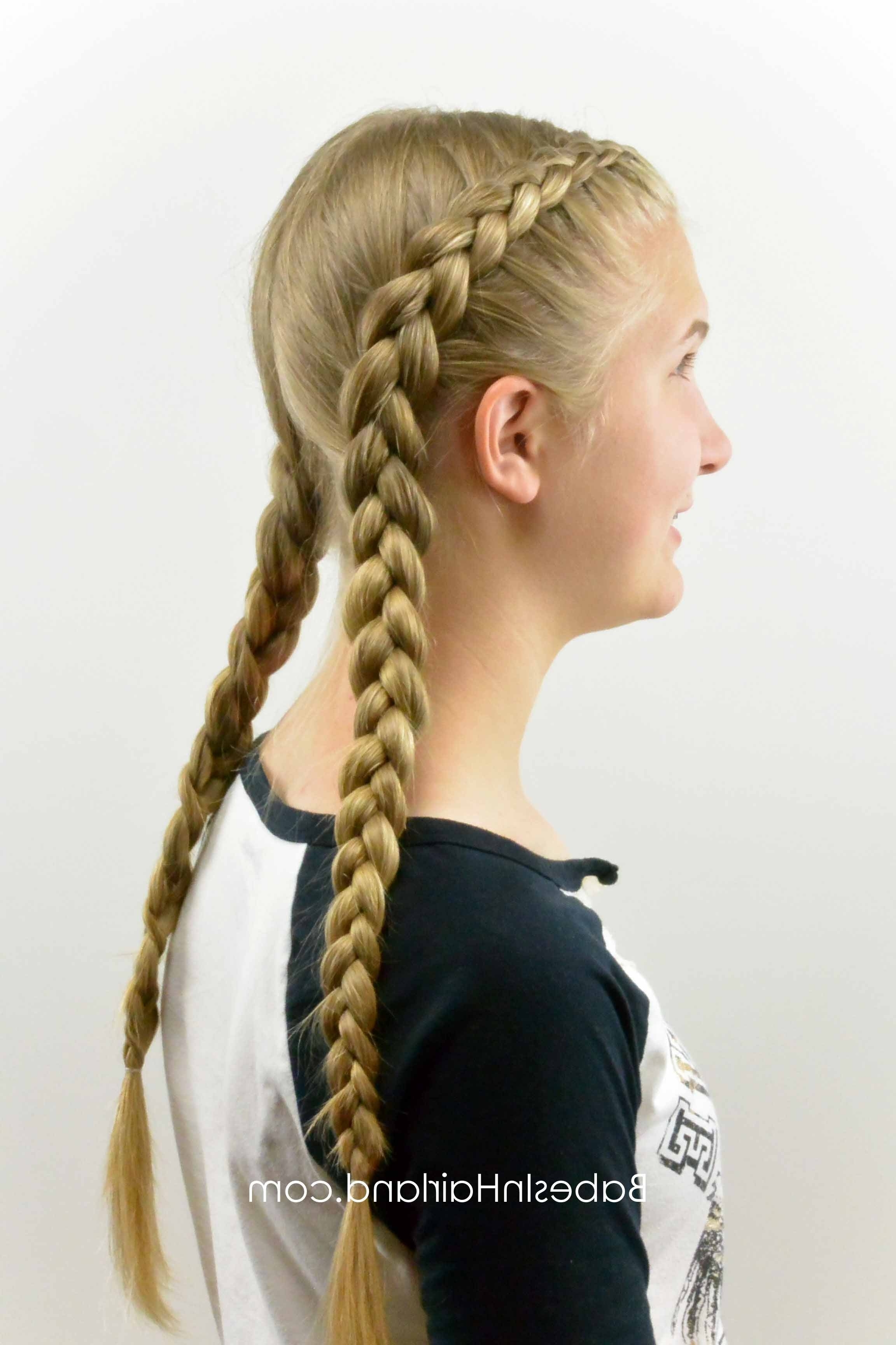 Most Up To Date Braided Hairstyles On Top Of Head Inside How To: Tight Dutch Braids On Yourself – Babes In Hairland (View 11 of 15)