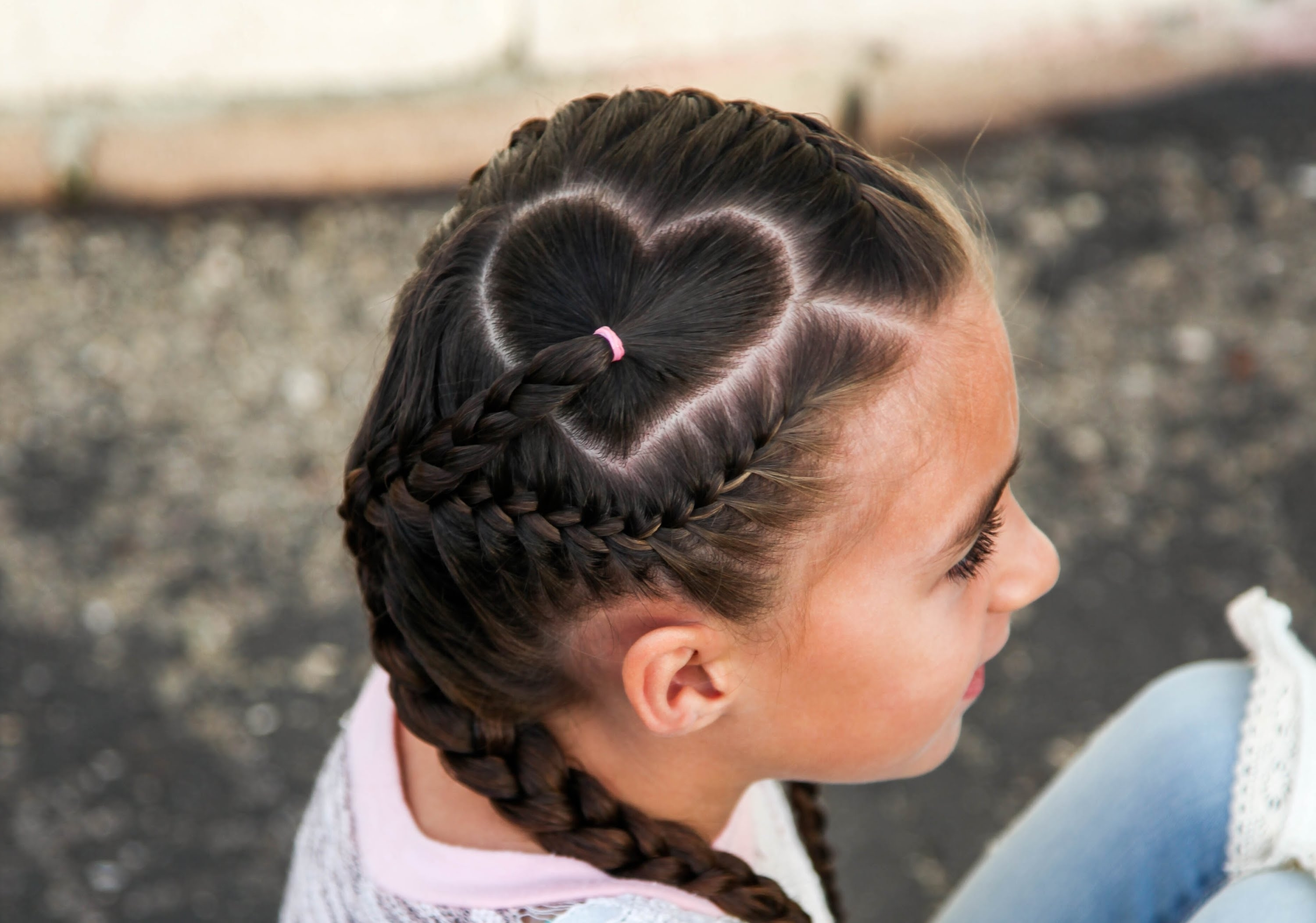 Most Up To Date Heart Braided Hairstyles Within Heart Parting Hairstyle Tutorial – Youtube (View 1 of 15)