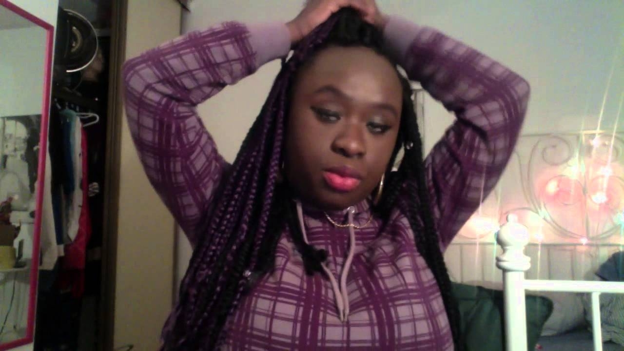 My Box Braids/ Big Forehead – Youtube With Well Liked Braided Hairstyles Cover Forehead (View 5 of 15)
