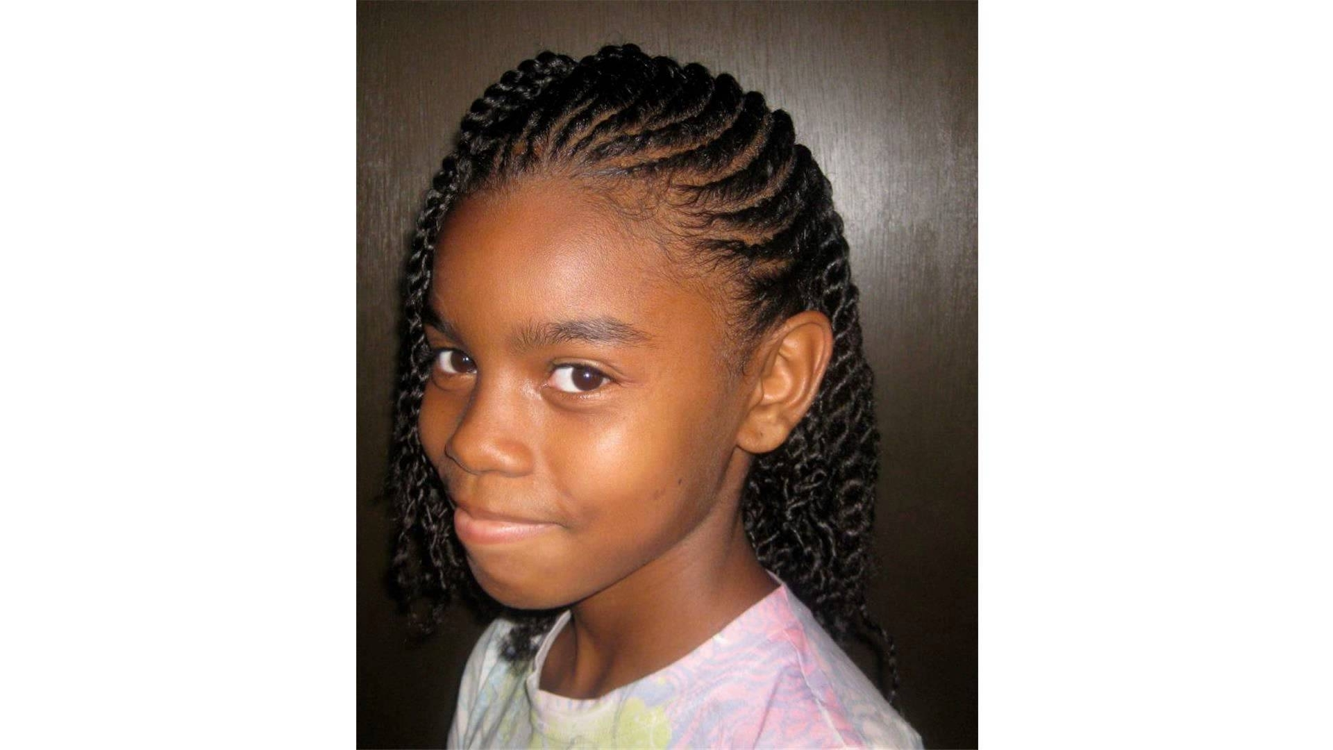 Natural Black Hair Inside Famous Braided Hairstyles For Kids (View 13 of 15)