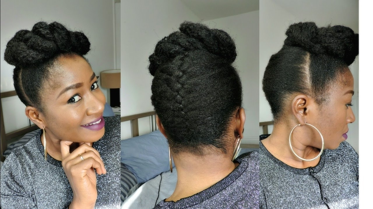 Natural Hair Braids Updo Hairstyles How To Style Short Natural Hair In Most Popular Braided Updo Hairstyles For Short Natural Hair (View 6 of 15)