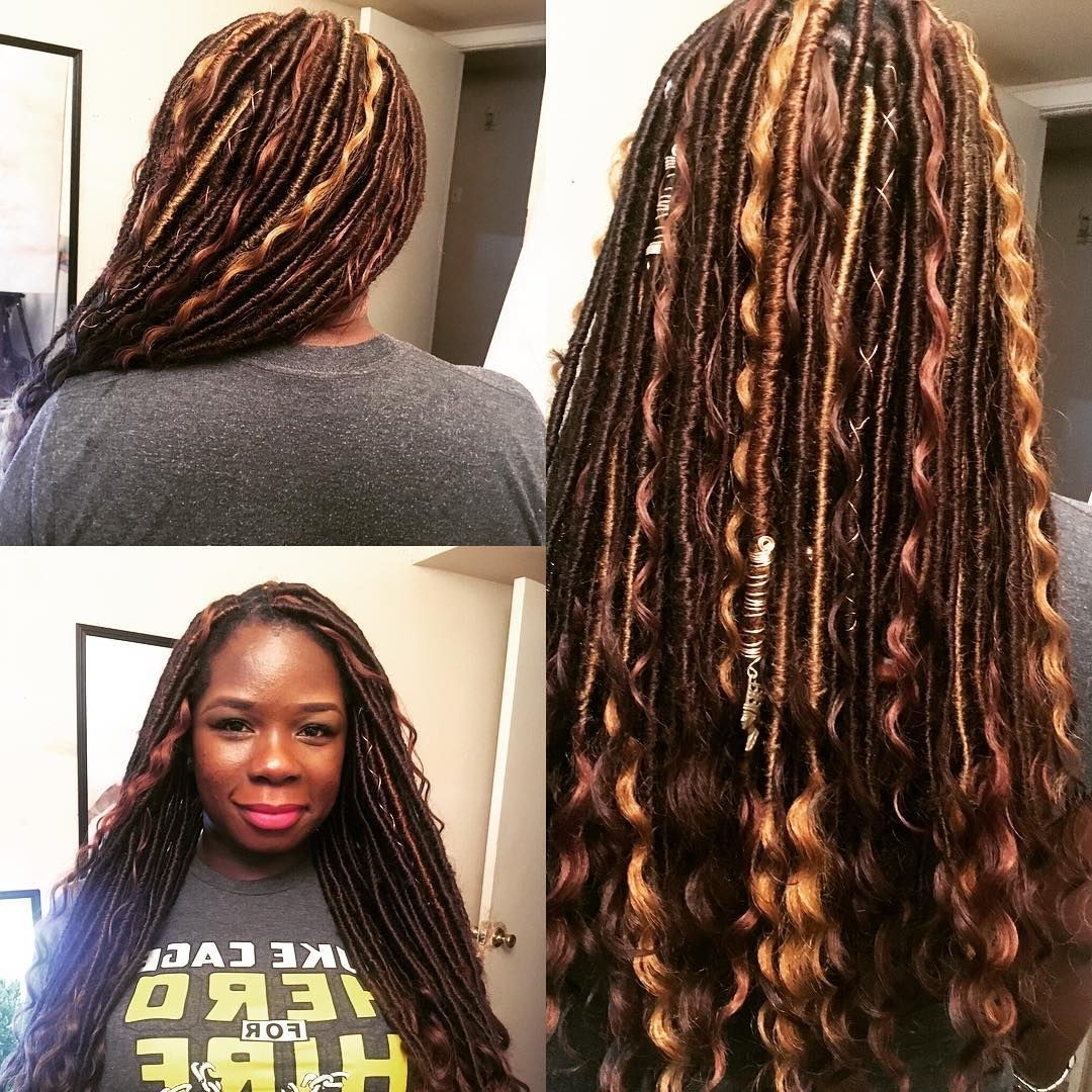 Newest Braided Cornrows Loc Hairstyles For Women Throughout The Best Faux Locs Tutorial (View 5 of 15)