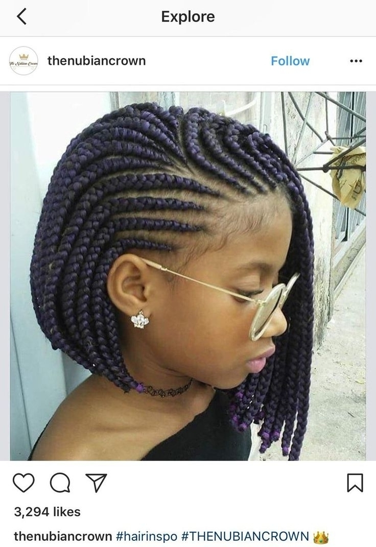 Photo Gallery of Braided Hairstyles For Black Girls (Viewing 5 of 15 ...