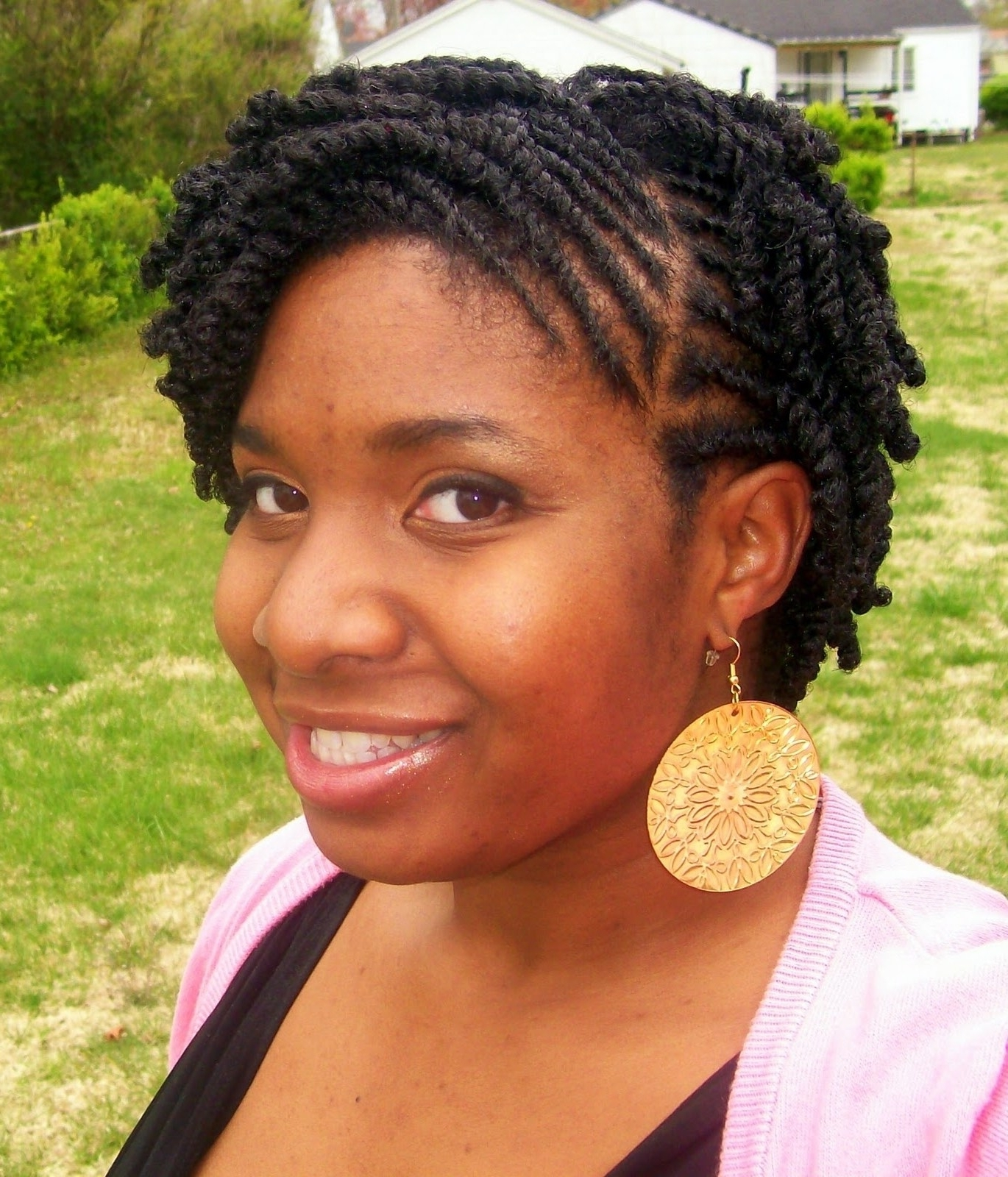Newest Braided Hairstyles For Short Natural Hair Intended For 30 Exclusive Twist Hairstyles For Short Natural Hair ~ Louis Palace (View 13 of 15)