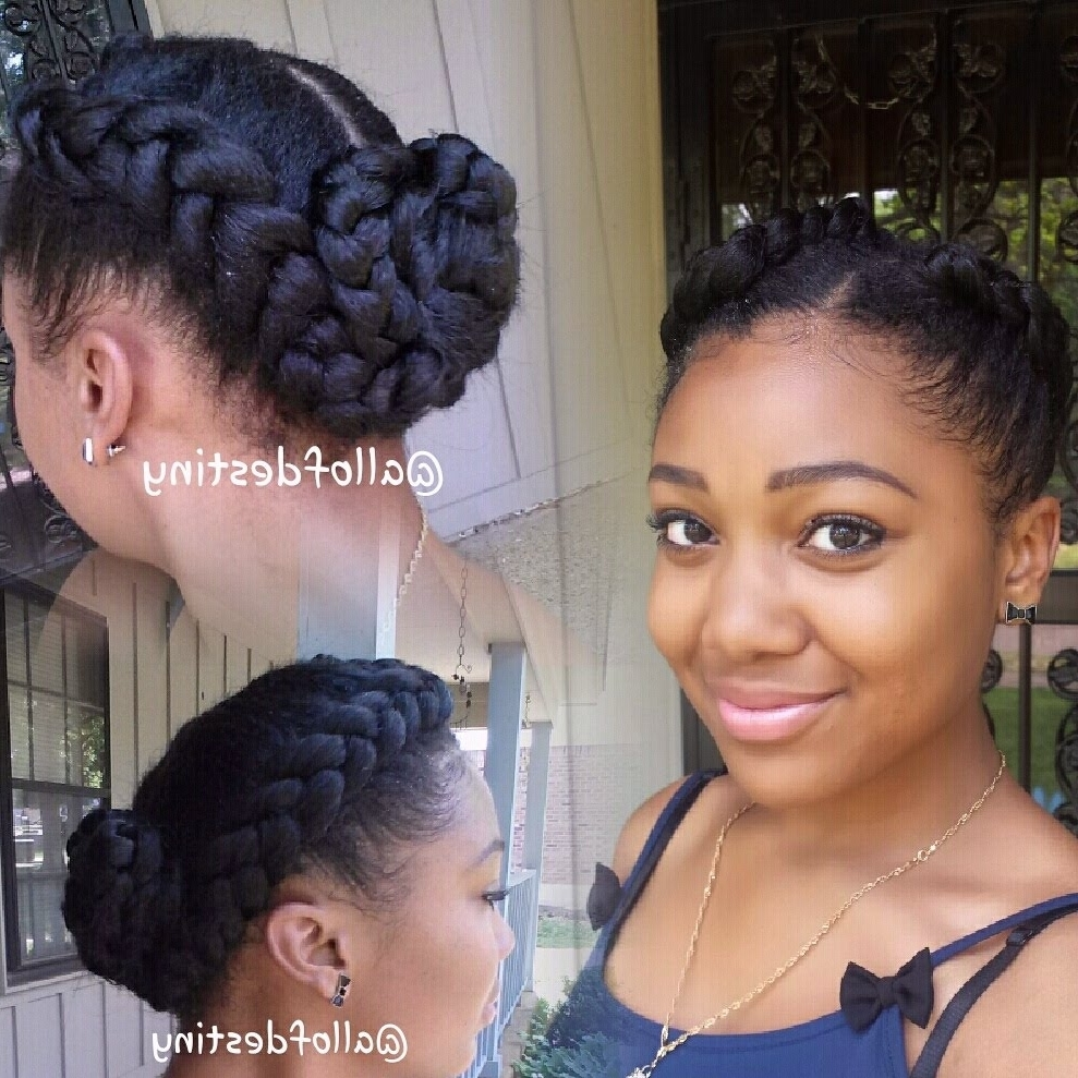 Newest Braided Hairstyles Into A Bun For Black Hair Braided Into Bun (View 13 of 15)