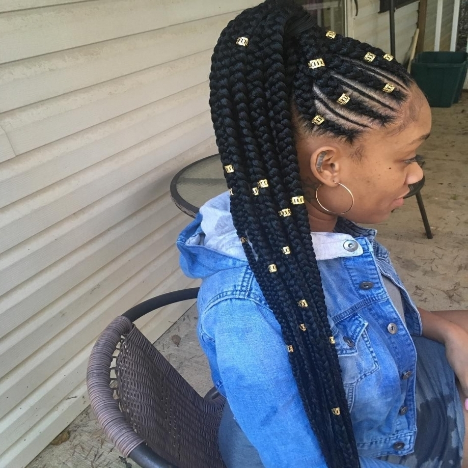 Featured Photo of Braided Up Hairstyles With Weave