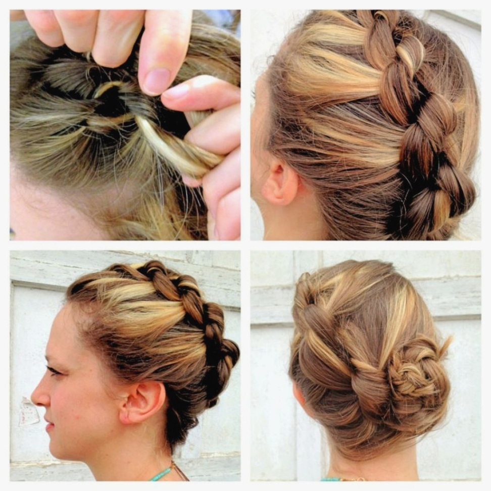 Newest Braided Updo Hairstyles For Short Hair With Braided Updo Hairstyles For Short Hair Prom Hairstyles For Long (View 12 of 15)