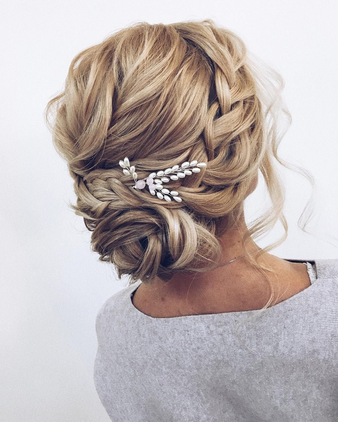 Newest Braided Updo Hairstyles For Weddings In Updo Braided Updo Hairstyle ,swept Back Bridal Hairstyle ,updo (View 8 of 15)