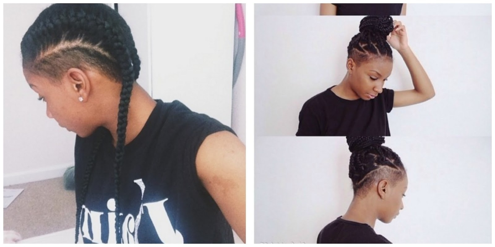 Newest One Side Shaved Braided Hairstyles Inside 30 Top One Side Braid Black Hairstyles ~ Louis Palace (View 4 of 15)