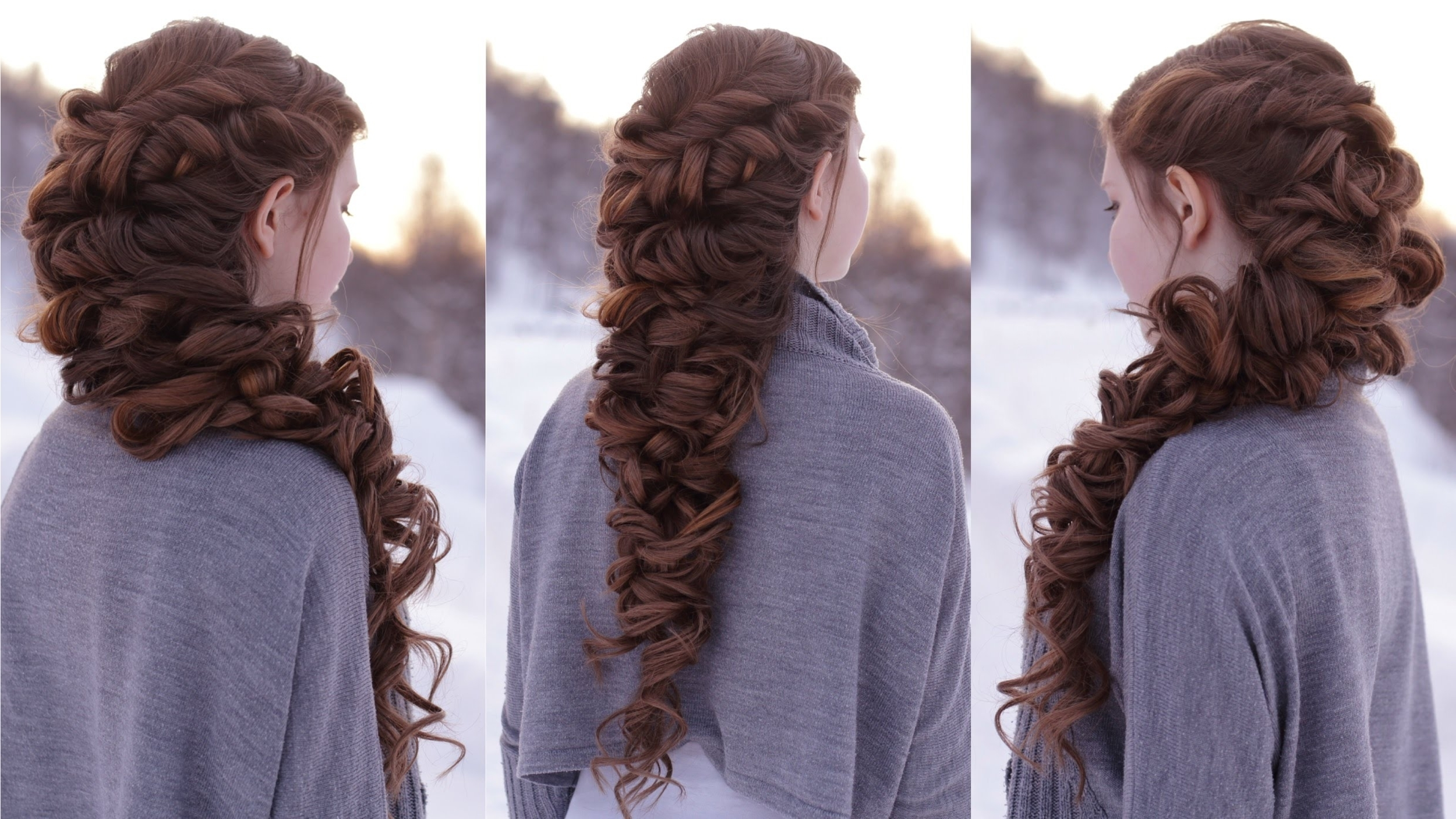 Newest Romantic Braid Hairstyles For Messy Romantic Braid – Youtube (View 3 of 15)