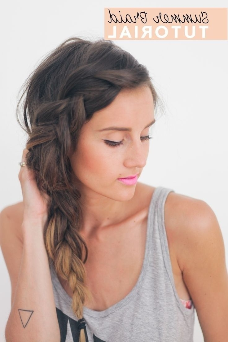 Newest Side Braid Hairstyles Pertaining To 26 Pretty Braided Hairstyle For Summer (View 3 of 15)