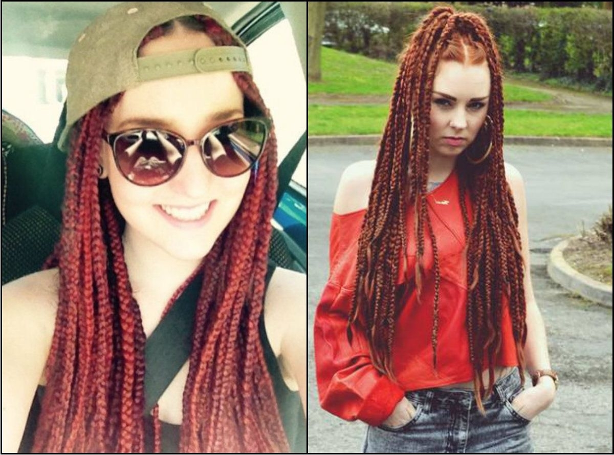 Newest White Braided Hairstyles With Pretty Hairstyles Wp Content Uploads 2016 10 Red Box Braids (View 9 of 15)
