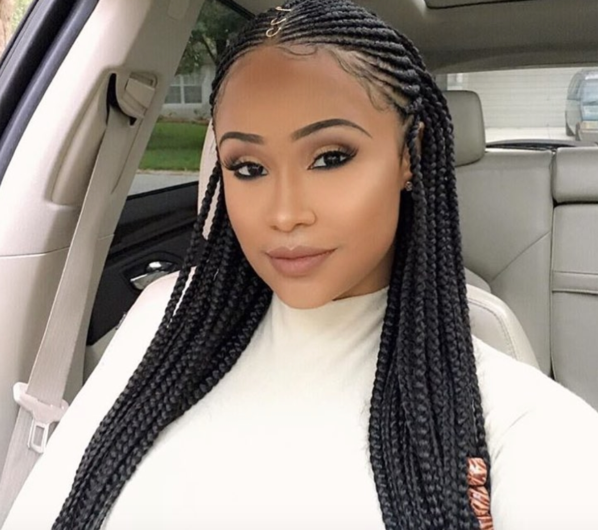 Nice Braids @infamous Aicha – Https://blackhairinformation Pertaining To 2018 Black Braided Hairstyles (View 13 of 15)
