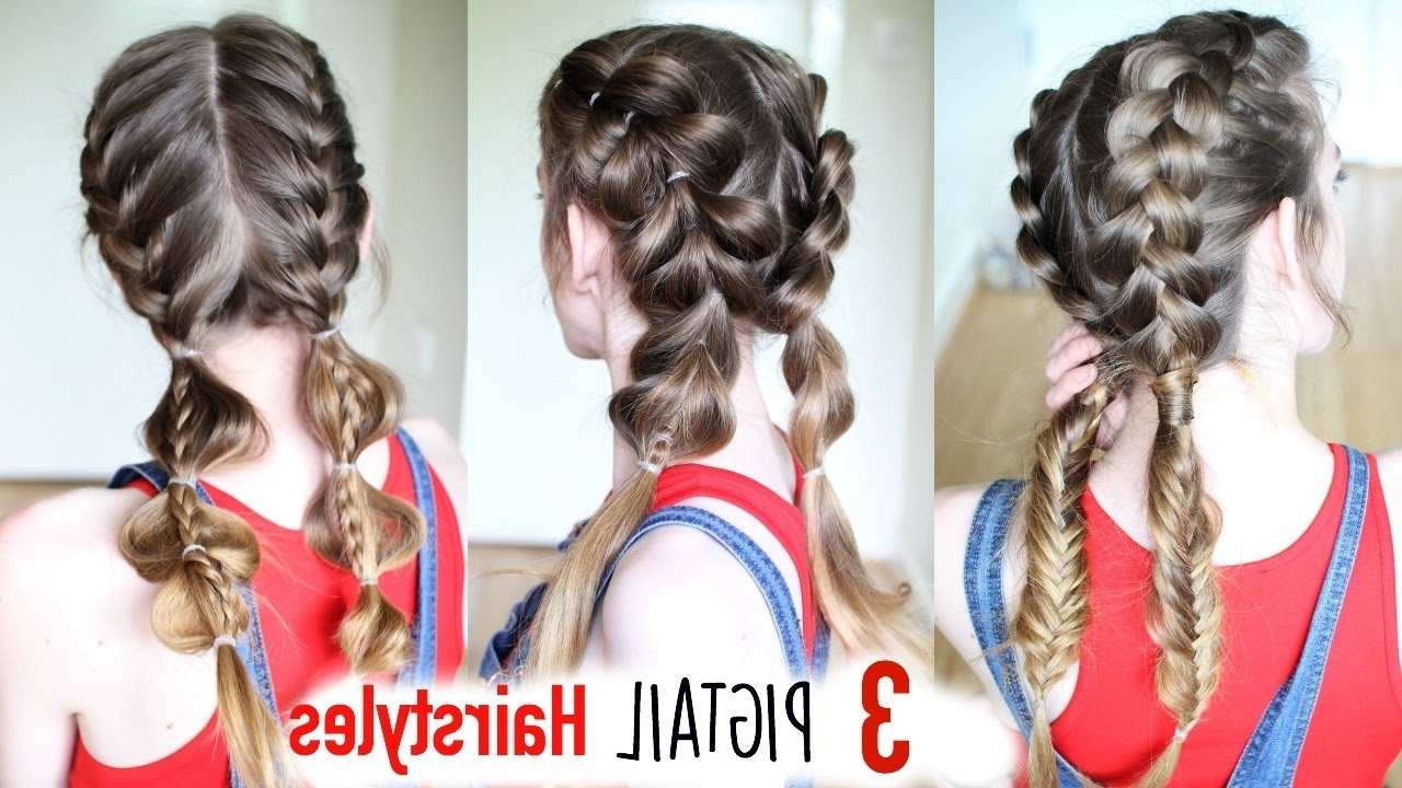 Pigtail Hairstyles Inside Best And Newest Pigtails Braided Hairstyles (View 2 of 15)