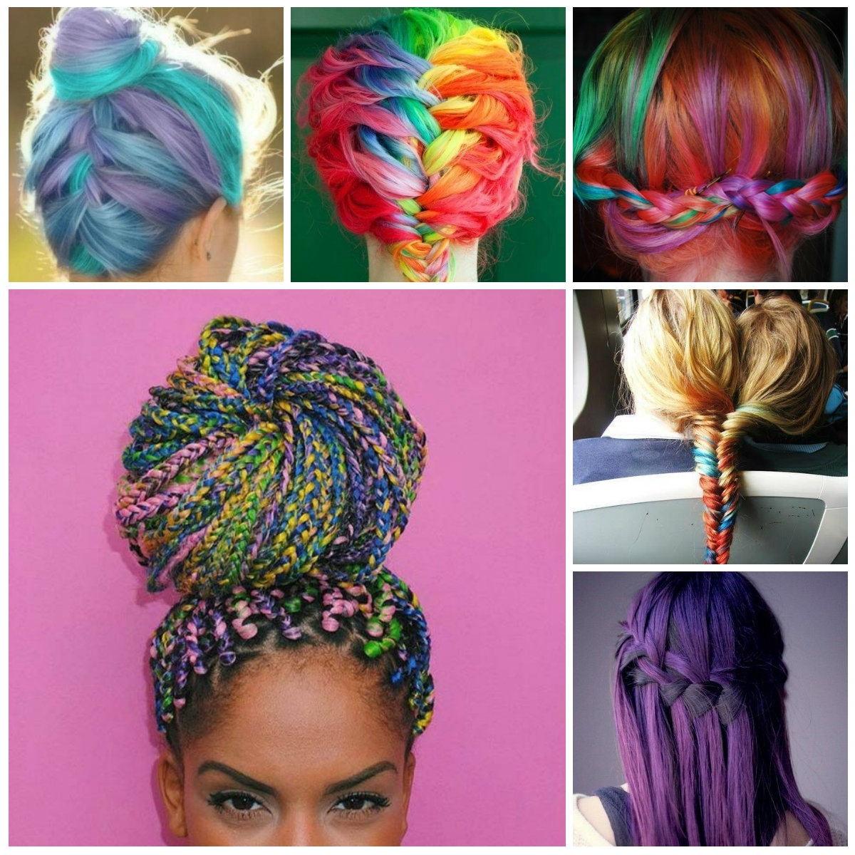 Pink And Purple Braid Dye Hair Color Trends – Best For Every One Within Recent Braided Hairstyles With Color (View 11 of 15)