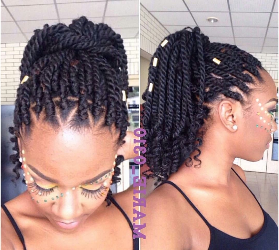 Pinte… For Best And Newest Braided Hairstyles On Relaxed Hair (View 12 of 15)