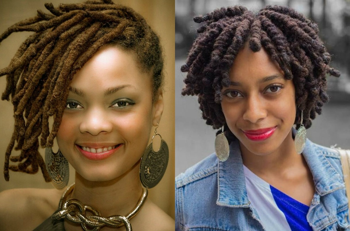 Popular Braided Dreads Hairstyles For Women Pertaining To Eye Catching Black Women Dreadlocks For Authentic Looks (View 14 of 15)