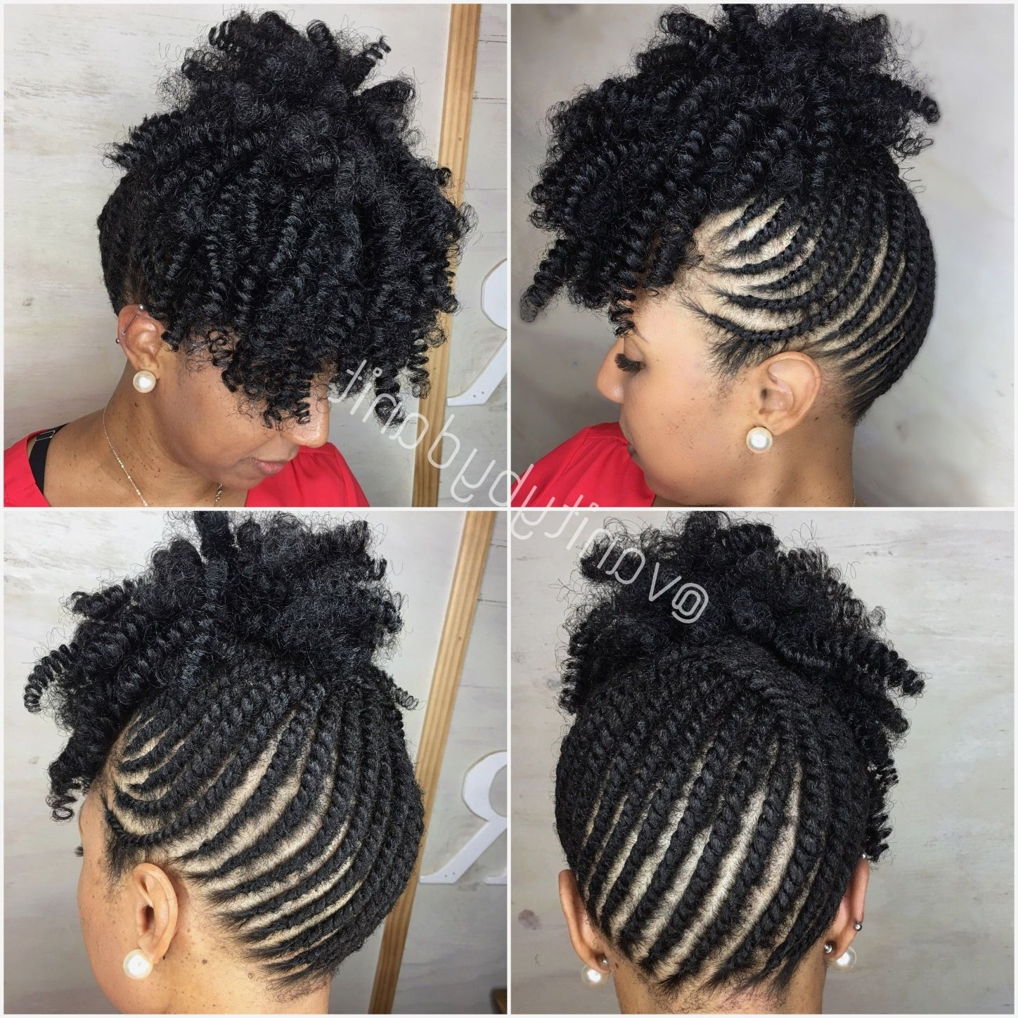 Popular Braided Hairstyles For Short African American Hair Pertaining To French Braid Hairstyles Natural Hair Beautiful Braided For (View 10 of 15)