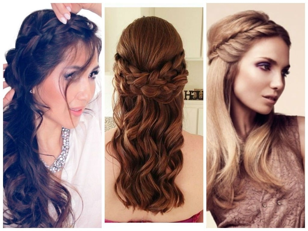Popular Half Up Braided Hairstyles Throughout Fishtail Braid Half Down (View 13 of 15)